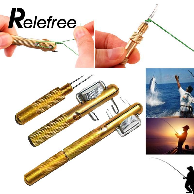Relefree Fishing Hook Tyer Aluminum Knots Line Tying Fishhook Manual Tie Tool Accessory ...