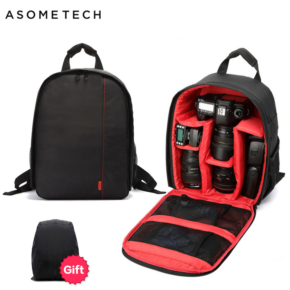Camera Backpack Photo-Bag Video Shockproof Sony Nikon Digital Small Canon For Breathable