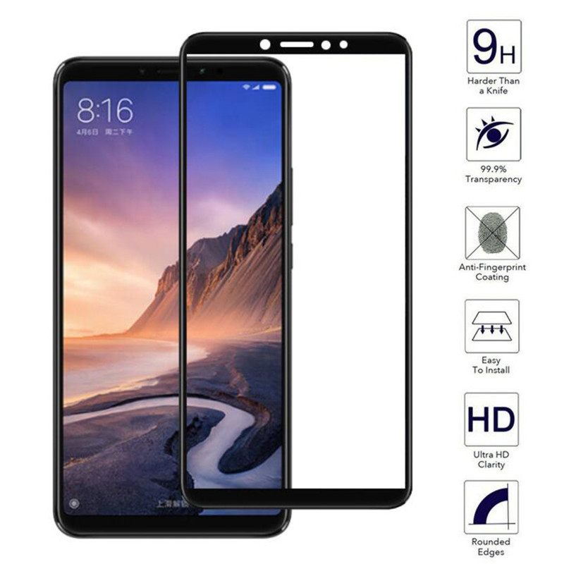 Tempered-Glass Mimax2 Full-Cover Max3 Protective-Film Screen-Protector Xiaomi For 9H