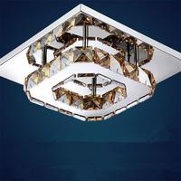 Modern LED Ceiling Light Amber Clear Crystal Aisle Corridor Entrance Porch Balcony Lamps Luminaria Plafonnier Lamparas