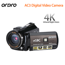 ORDRO Updated AC3 4K Hot Shoe WIFI Digital Camera HDMI 24MP