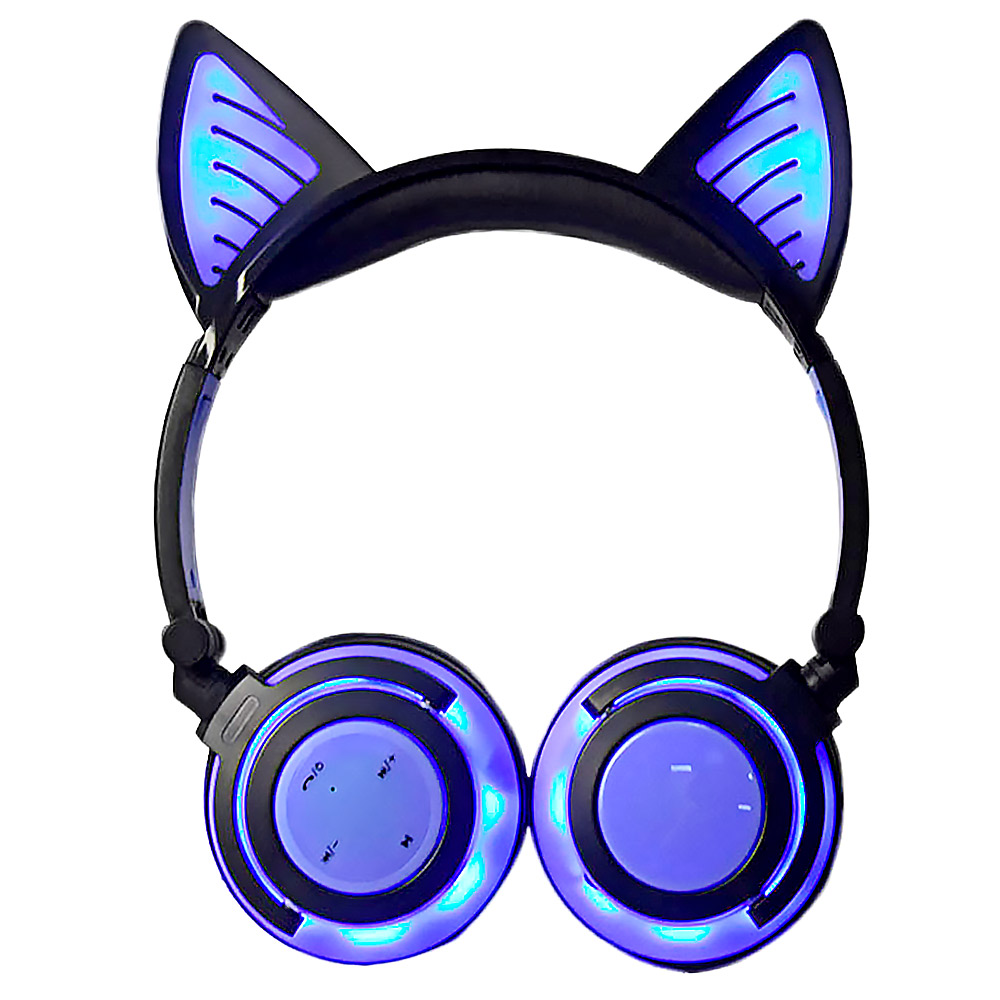 Aiyima Bluetooth Earphone Wireless Headphones Foldable Flashing Cat Ear Kids Headphones Gaming Headset With Led Light Best Wireless