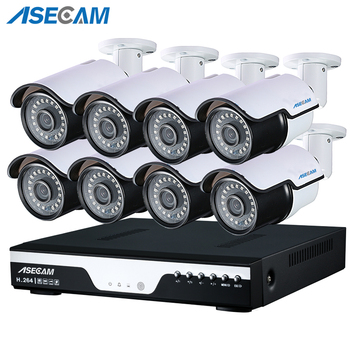 New HD 1080P POE CCTV System 8CH 48V PoE NVR Kit 2MP Outdoor Security IP Camera Waterproof P2P Video Surveillance Set 4ch 8ch 1080p full hd nvr kit poe cctv system with 2 0mp outdoor ip camera poe waterproof p2p onvif security surveillance set