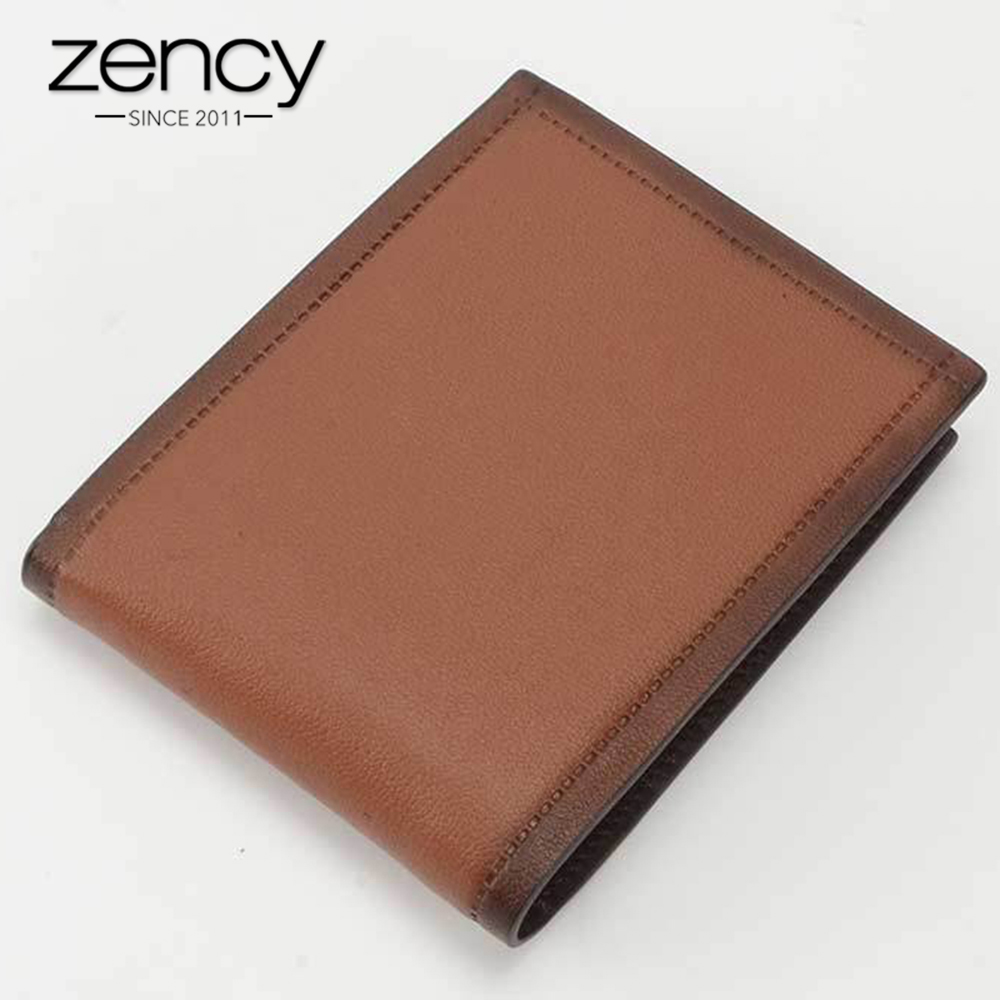 Zency 100% Genuine Cow Leather Business Men's Wallets Short Style Coin Purse For Office Man Card Holder Pocket frank buytendijk dealing with dilemmas where business analytics fall short