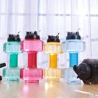 2.6L Công Suất Lớn Dumbbell Design Nước Du Lịch Thể Thao Chai Thể Thao Gym Fitness Đào Tạo Nhựa Chai Nước Ấm Workout