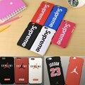 Caliente supremo jordan 23 deportes de lujo protección dura plástica mate case para iphone 7 7 plus 5 5S se 6 6 s plus fundas cubierta de coque