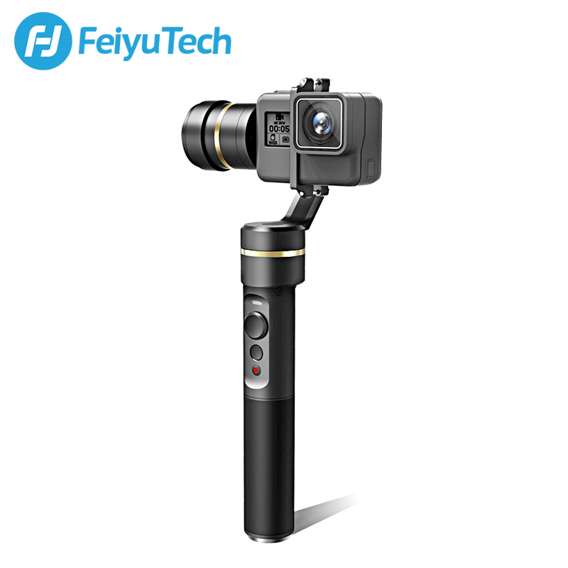 FeiyuTech Feiyu G5 Splash Proof 3-Axis Handheld Gimbal For GoPro HERO 6 5 4 3 3+ Xiaomi yi 4k SJ AEE Action Camera Bluetooth APP fpv 3 axis cnc metal brushless gimbal with controller for dji phantom camera drone for gopro 3 4 action sport camera only 180g