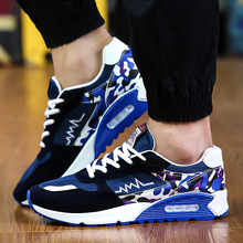 2017 New Fashion Autumn Men Shoes Air Cushion Casuals Flats Shoes High Increasing Mesh Shoes Outdoor