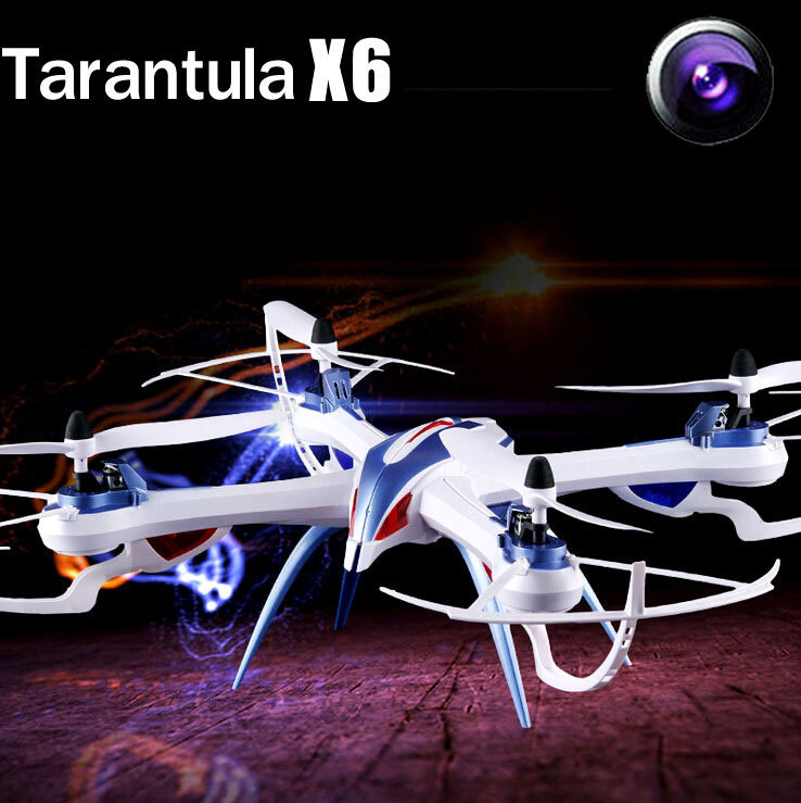 Free Shipppg Tarantula X6 Drone 2.4G 4CH 6-Axis RC Quadcopter Helicopter With 2MP or Angle 5MP Camera VS GW007 X5SW yizhan tarantula x6 4 axis rc helicopter drone toy model can add wide angle 5mp or 2 mp camera with long remote distance 300m