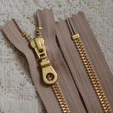 20pcs/lot YKK Metal Zipper  #5 Gold Copper Close End Zip Pocket Boots Shoes Handmade Diy Sewing Accessories Wholesale