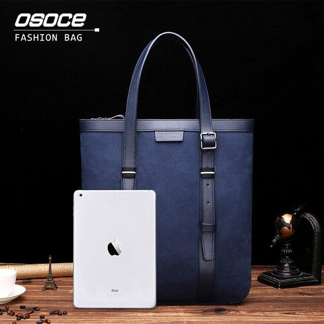 Osoce Men Bag Business Casual Handbag Men Briefcase Totes Bags 13