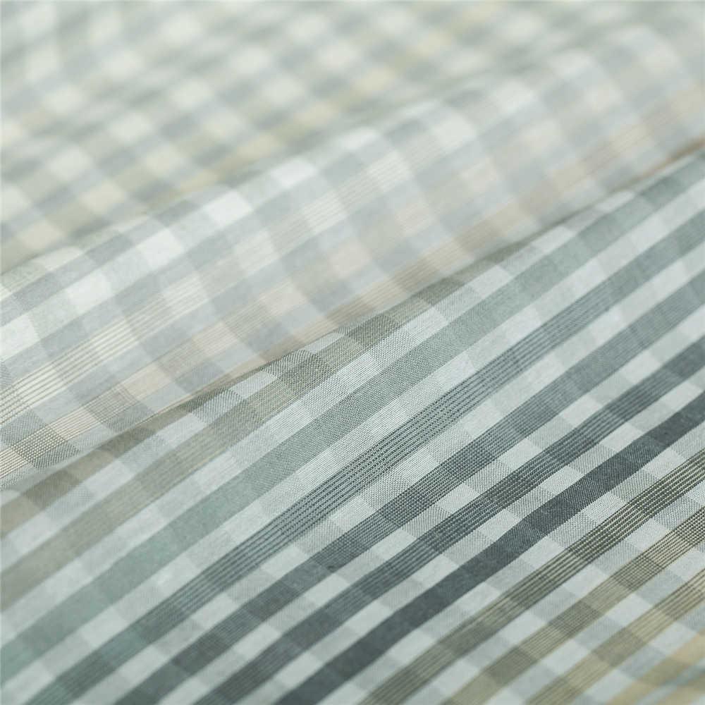 Lane e Filati-tinto check & plaid modello gradiente di seta di colore misto tessuto di cotone, di cucito per il vestito, gonna, camicia, camicetta, artigianale dal cantiere