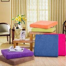 Подушка, три размера подушки для стула, одноцветная квадратная подушка для сиденья, напольная Подушка с татами для дома и офиса
