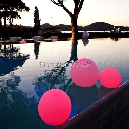 20cm rechargeable waterproof RGB floating led pool balls VC-B200 led pool balls light diameter 25cm