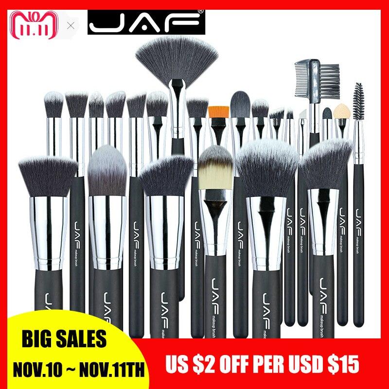 JAF Makeup Brushes 24 pcs Premiuim Makeup brush set High Quality Soft Taklon Hair Professional Makeup Artist Brush Tool Kit цены
