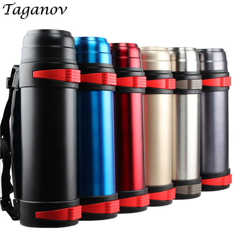 2 L Outdoor thermoses Stainless Steel Travel kettle Thermos Thermal water bottle insulated vacuum flask tea coffee pot thermocup Термос