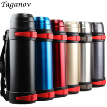 2 L Outdoor thermoses Stainless Steel Travel kettle Thermos Thermal water bottle insulated vacuum flask tea coffee pot thermocup