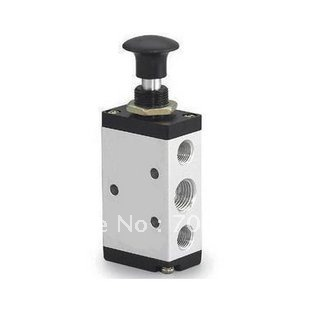 3 port 2 pos 1/4 BSP Normally Closed Hand Operated Air Valve Hand Return 3R210-08
