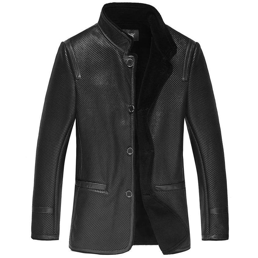 Leather suede sheepskin coat new fur one piece jacket genuine sheepskin leather coat winter russian fur coats New Phoenix