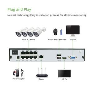 Image 4 - 4 канала 1080P POE Комплект H.265 система видеонаблюдения 8ch NVR 2.0MP наружная водонепроницаемая IP камера видеонаблюдения Сигнализация P2P G.Craftsman