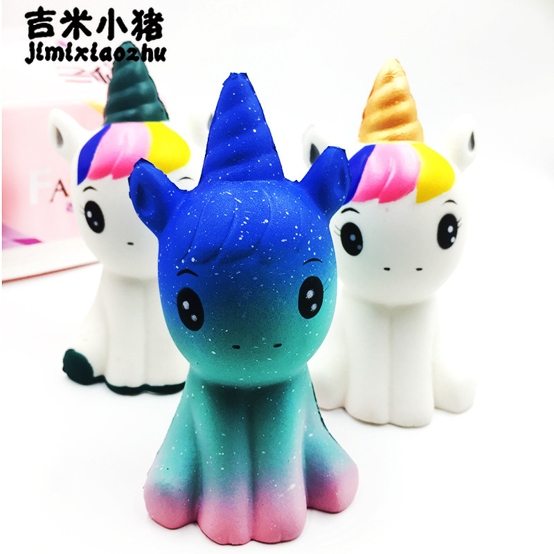 12CM NEW Jumbo Squishy Unicorn Doll Slow Rising Flying Horse Phone Strap Decompression Toys Stress Reliever Mobile Phone Straps