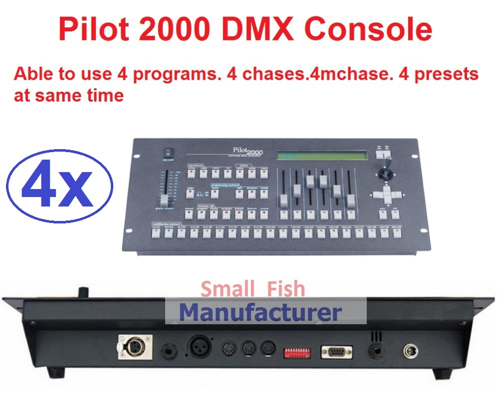 4xLot Free Shipping Pilot 2000 DMX512 Controller Professional DMX Console Stage Light Disco DJ Club Party Lights Audio Equipment lightme professional stage dj dmx stage light 192 channels dmx512 controller console dj light for disco ktv home party night
