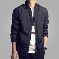 2016 Fashion Men's Jackets New Autumn Solid Coats Male Casual Slim Stand Collar Jacket Men Outerdoor Overcoat M-XXXXL 4001