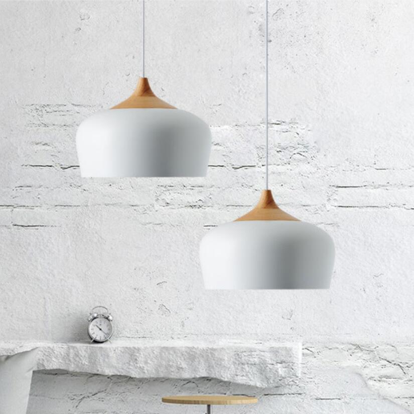 Image 3 - Modern pendant light black/white Retro Droplight Bar Cafe Bedroom Restaurant American Country Style Hanging Lamp Dia 30cm-in Pendant Lights from Lights & Lighting