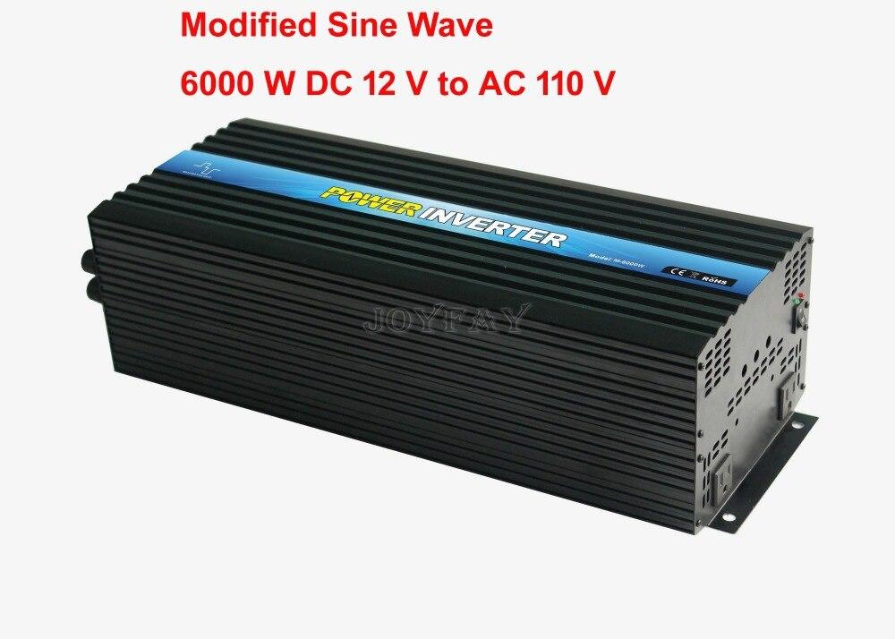 6000W Modified Sine Wave DC 12V to AC 110V Power Inverter 6000w modified sine wave dc 48v to ac 110v power inverter