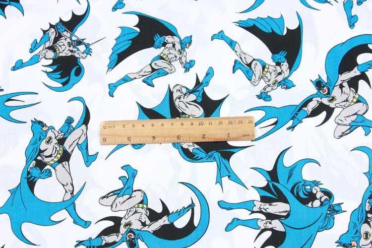 ครึ่งผ้าฝ้าย 100% การ์ตูน batman พิมพ์ผ้าทำด้วยมือ DIY เสื้อผ้าเด็กผ้าผ้าฝ้าย 100% T534