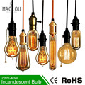 Retro Edison Light Bulb E27 220V 40W ST64 G95 Lamp Vintage Incandescent Bulb Edison Lampada Lamp Filament pendant light For Home