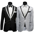 2017 New Arrival Men Wedding Dress Suit And Pants Fashion Costume Dinner  Wedding Suits Tuxedo Suit(Jacket+Pants+Tie)
