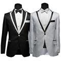 2017 Nueva Llegada Vestido de Traje Y Pantalones de Traje de La Manera de La Cena de Boda de Los Hombres Trajes de Boda Traje Esmoquin (Jacket + Pants + Tie)