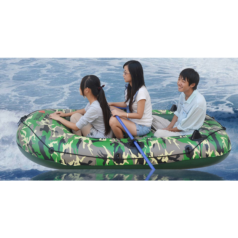Quality 2/3/4 Person Inflatable Rowing Boat Bearing 175/250/320KG Convertible Motorboat Safety Rescue Rubber Fishing Boat Set