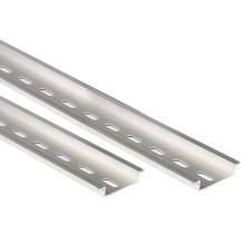5 шт. универсальный тип 35 мм 0,5 м алюминиевая шлицевая din-рейка для C45 DZ47 клеммные блоки контактор и т. д