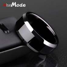 ELSEMODE Men Black Titanium Stainless Ring Factory Direct Lover Couple Rings for Women(China)