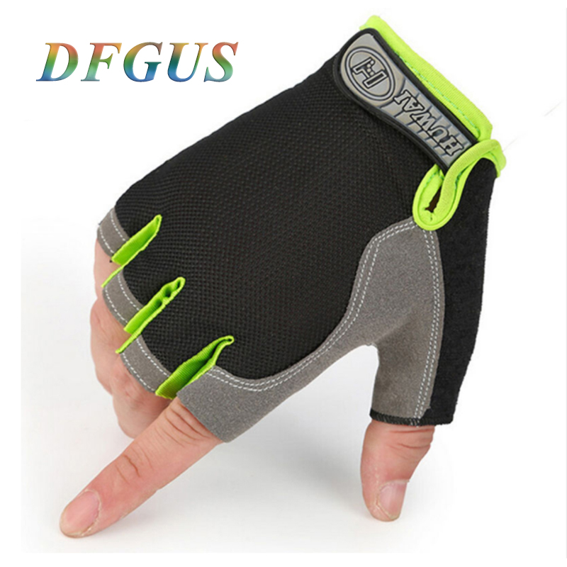 Gym Gloves Men Women Fitness Climbing Bicycle Ridding Mittens Half Finger Male Anti-slip Breathable Fingerless Gym Gloves