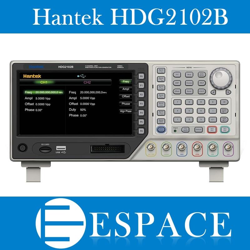 HANTEK HDG2102B Arbitrary Waveform Function Generator 2CH 100Mhz 16Bit 250MSa 64M Memory Free Ship