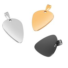 High Quality Stainless Steel 316L Guitar Pick Pendant ID Necklace Unisex Jewelry 4 colors without chain double side polish(China)