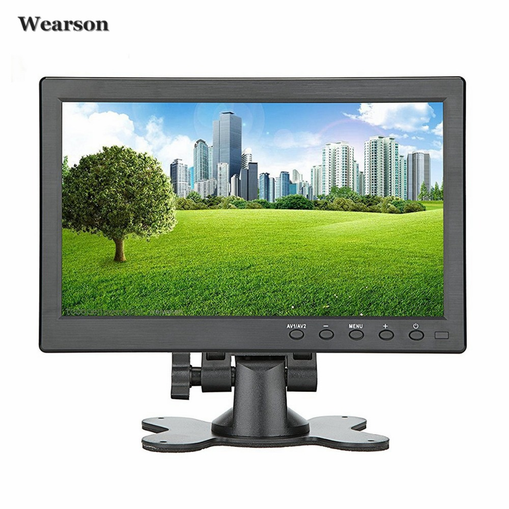 Wearson 10.1 inch HDMI VGA BNC CCTV Security LCD Monitor Display Screen 1024x600 For Raspberry pi 3 monitor Video Audio inputs 12 inch 12 1 inch vga connector monitor 800 600 song machine cash register square screen lcd industrial monitor display