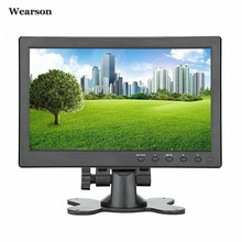 On sale Wearson 10.1″ inch HDMI VGA BNC CCTV Security LCD Monitor Display Screen 1024×600 For Raspberry pi 3 monitor Video Audio inputs