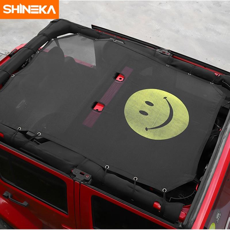 SHINEKA voiture pare-soleil haut toit maille soleil UV Protection Protection filet couverture pour Jeep Wrangler JK 2 porte 4 porte voiture accessoires style