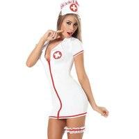 Sexy pielęgniarka uniform costume z nogi pas cosplay role play sexy maid kostiumy erotyczne dress dorosłych baby doll seksowna bielizna sukienka