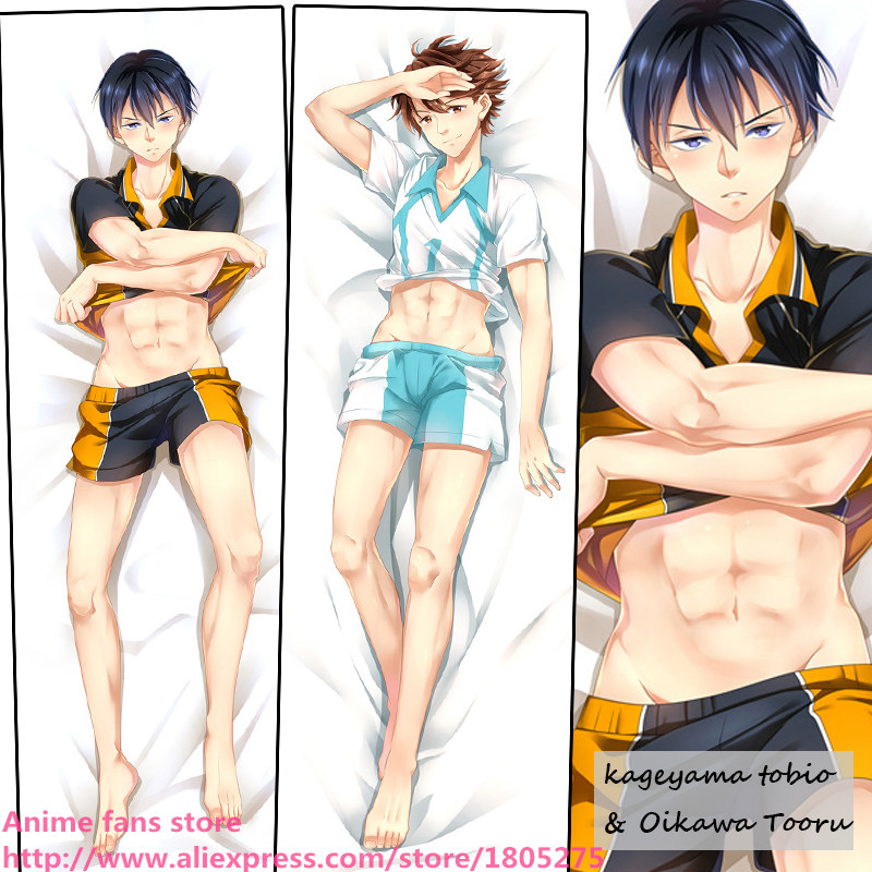 Cool Japanese Anime Pillowcase Haikyuu Kageyama Tobio & Oikawa Tooru BL Pillow Case decorative Hugging Body Bedding