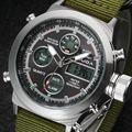 Dos homens moda militar relógios desporto ao ar livre Digital Men Watch couro Strap relógio de quartzo relógio masculino relogio masculino
