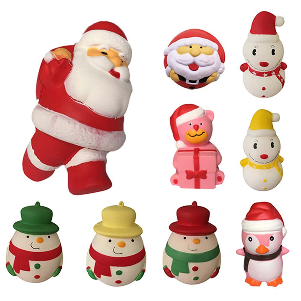 Christmas Xmas Mini Kawaii Squishy Toy China Hand Squeezy Soft Slow Rising Fun Kid Toys Gift