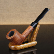 Classic Smoking Pipe 9mm Filter Rose Wood Pipe Handmade Straight Tobacco Pipe Rosewood Smoke Pipe(China)