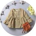 Bebê do sexo feminino poeira casaco bebê infantil desgaste do período de primavera e outono e os novos 2016 lazer doce princesa blusão de algodão