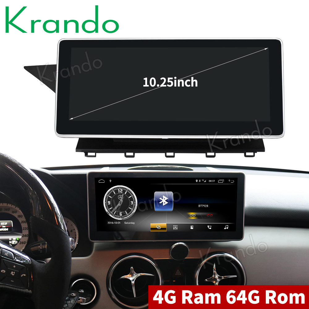 Krando Android 8 1 10 25 car radio dvd navigation for BENZ GLK 2013 2015 multimedia