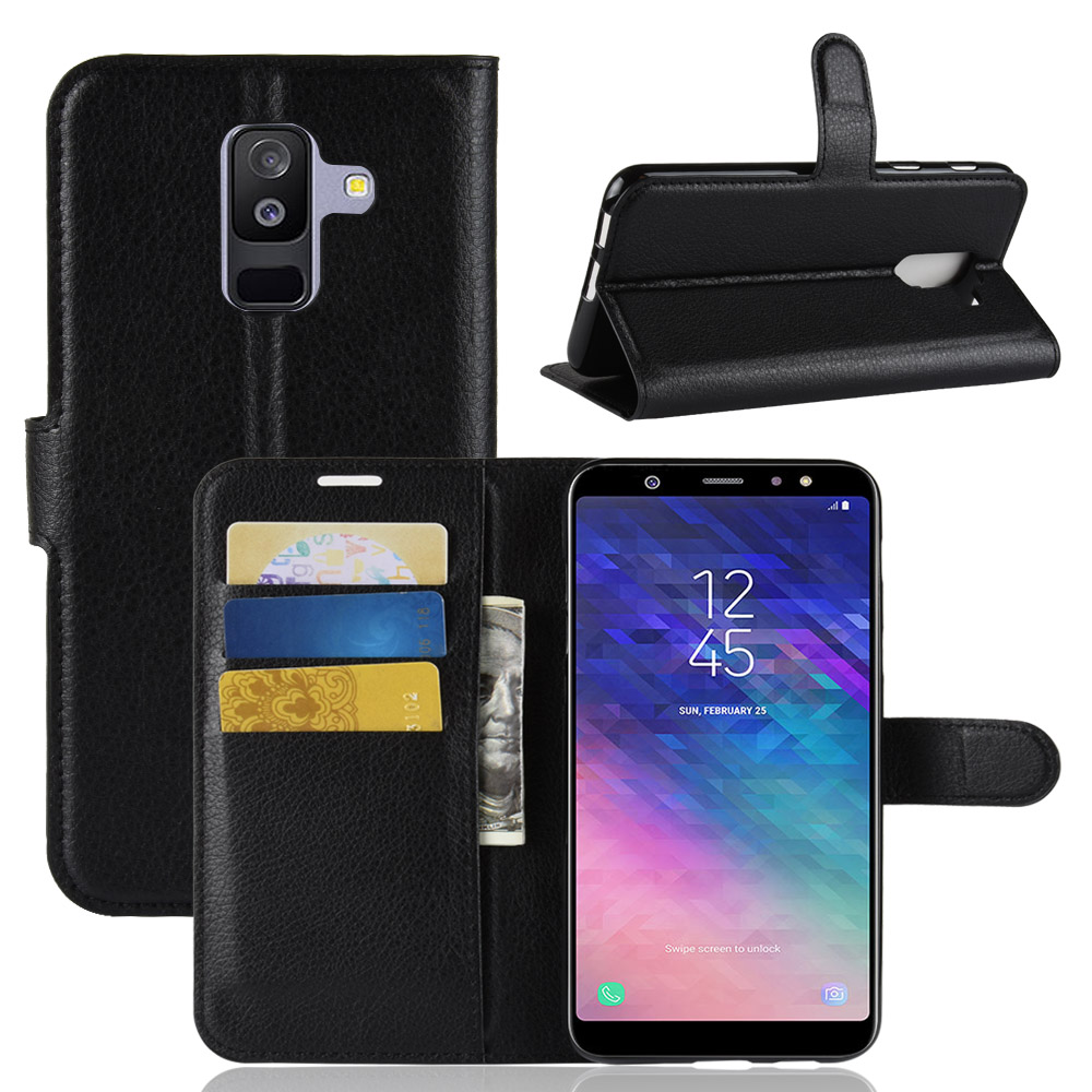 For Samsung Galaxy A6 2018 Case Luxury PU Leather Wallet